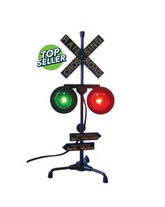 Railroad Crossing Lamp with flashing Lights